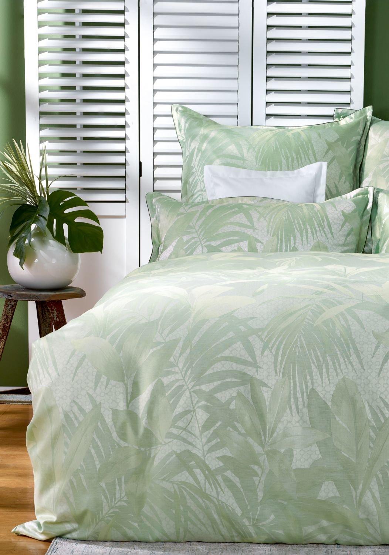 curt bauer mako brokat damast bettw sche set 2 teilig cannes gr n romodo. Black Bedroom Furniture Sets. Home Design Ideas