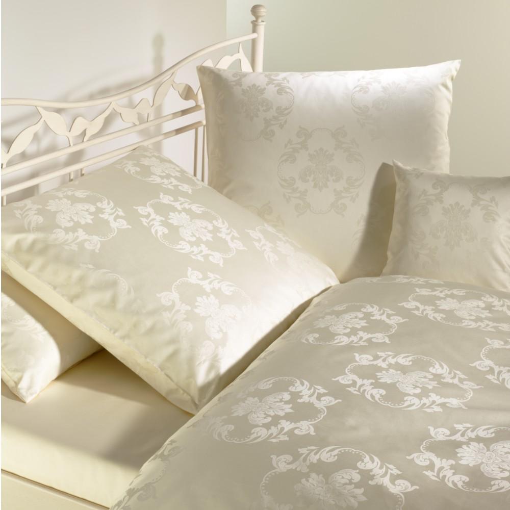 curt bauer mako brokat damast bettw sche set 2 teilig josephine champagner romodo. Black Bedroom Furniture Sets. Home Design Ideas