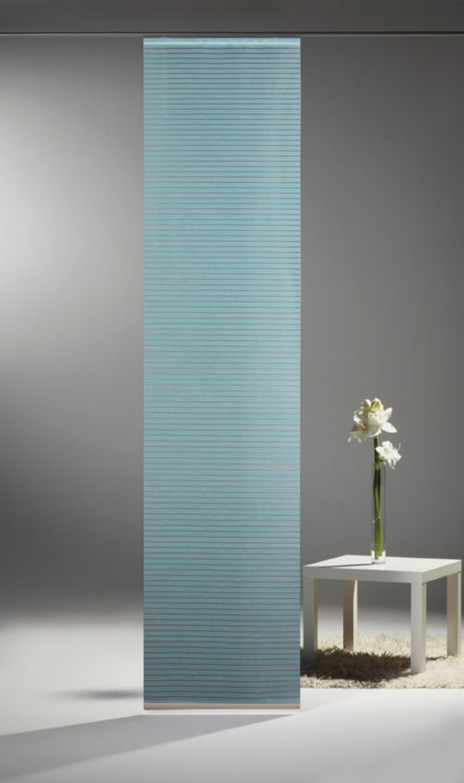 fl chenvorhang limbo 899 03 uni t rkis incl zubeh r romodo. Black Bedroom Furniture Sets. Home Design Ideas