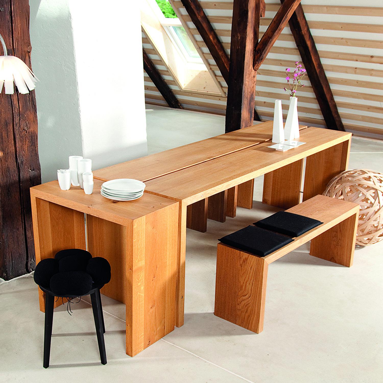 Raumgestalt Tisch Eiche Massiv Hell Lange 220cm Romodo