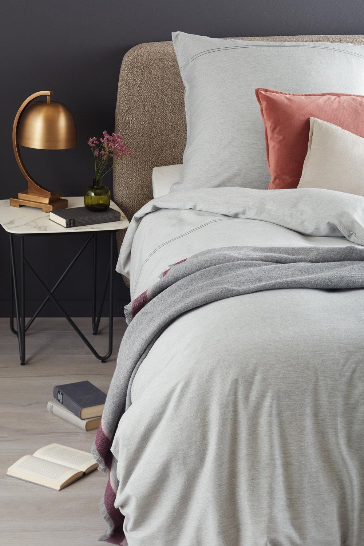 Schöner Wohnen Bettwäsche Brava B Grau Romodo