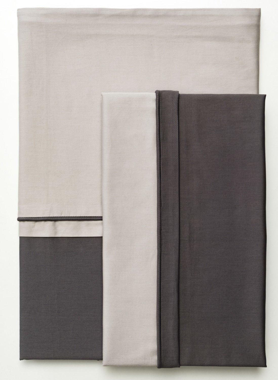 sch ner wohnen pure sand anthrazit bettw sche romodo. Black Bedroom Furniture Sets. Home Design Ideas