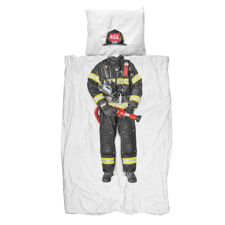 snurk firefighter bettw sche set feuerwehrmann 135x200 cm romodo. Black Bedroom Furniture Sets. Home Design Ideas