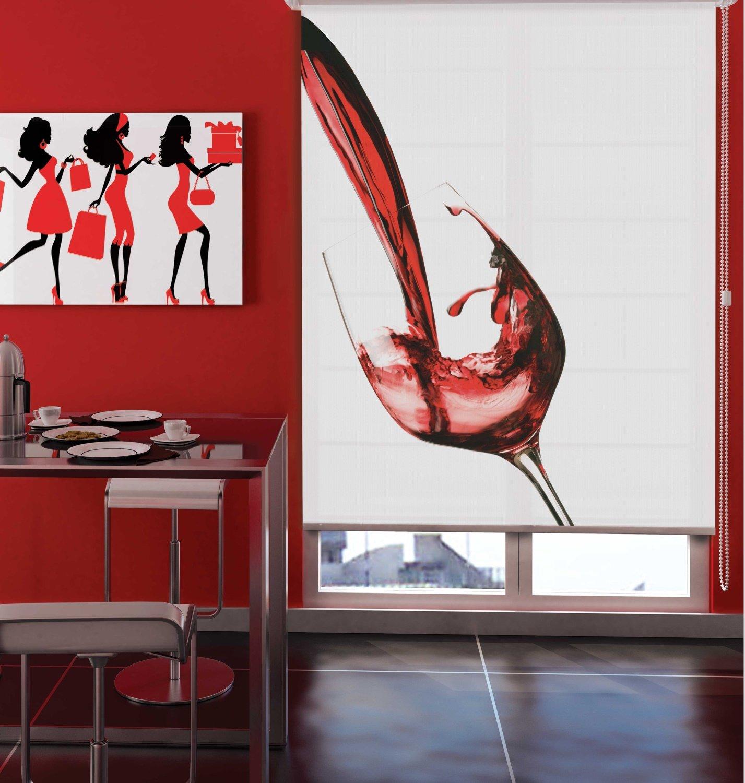 sichtschutz rollo weinglas rot verschiedene gr en romodo. Black Bedroom Furniture Sets. Home Design Ideas