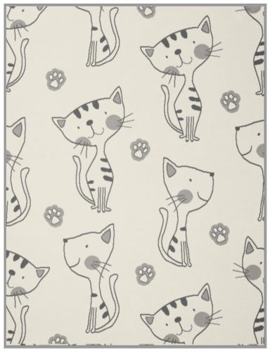 Biederlack Lovely & Sweet Kitty nature Kinderdecke 75x100 cm