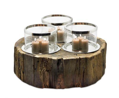 edzard windlicht chattanooga holz glas vernickelt h he 23 cm 44 cm romodo. Black Bedroom Furniture Sets. Home Design Ideas