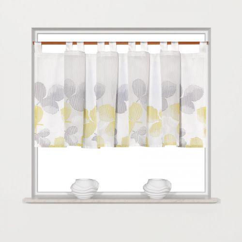 schlaufenpanneaux florales muster grau gr n breite 150 cm h he 45 cm romodo. Black Bedroom Furniture Sets. Home Design Ideas