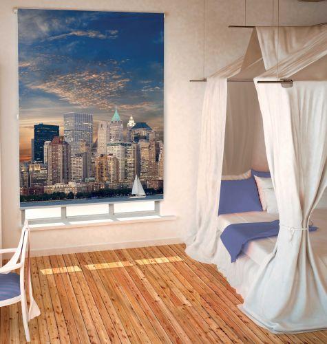 Sichtschutz Rollo New York Skyline Verschiedene Grossen Romodo