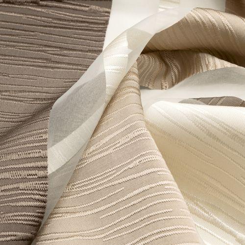 vorhangstoff dekostoff montpellier querstreifen braun. Black Bedroom Furniture Sets. Home Design Ideas