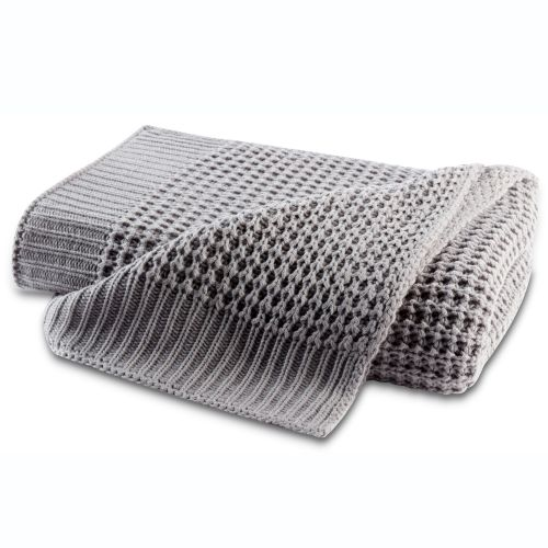Biederlack Plaid Knit Grey 170x130cm