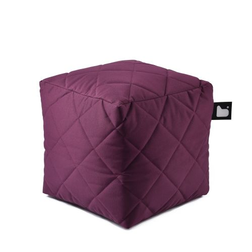 b-box extreme lounging Sitzwürfel Berry - Quilted In & Outdoor